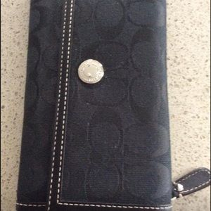 New Coach fabric wallet